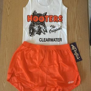 Hooters uniform tank & dolfin shorts Med/Lrg